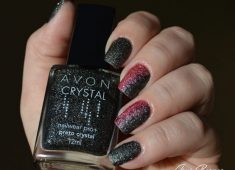esmalte texturizado preto crystal avon